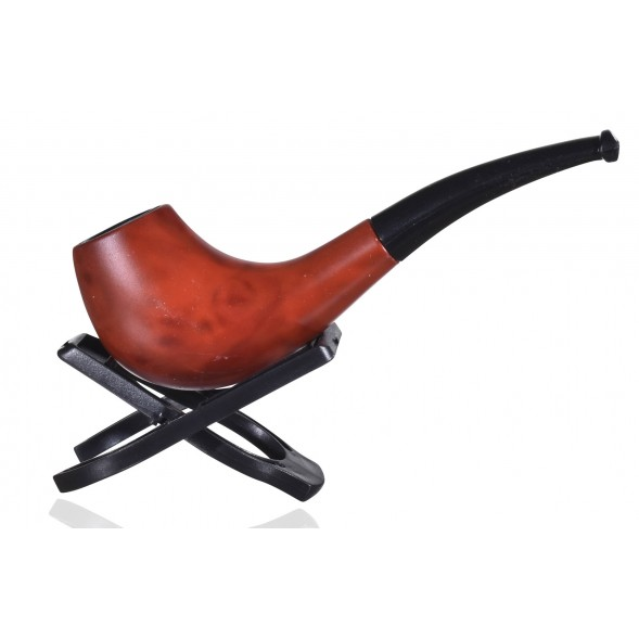 "5.5"" Fancy wooden pipe With Straight Stem - short stogie"