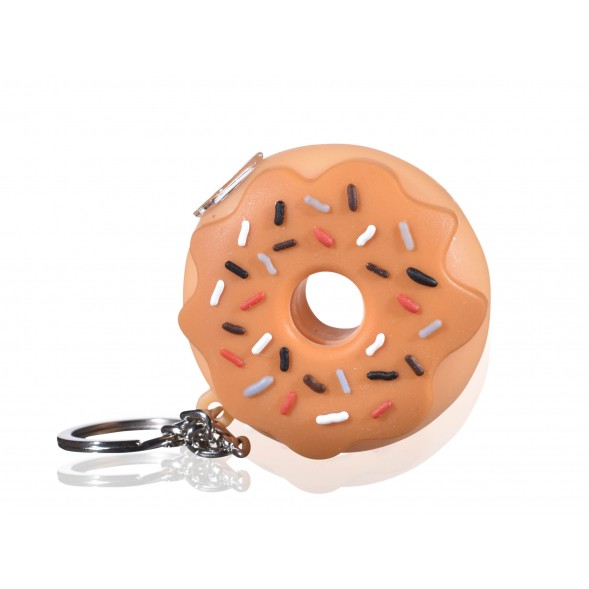 SmokeDay's Donut Key Chain Silicone Hand Pipe