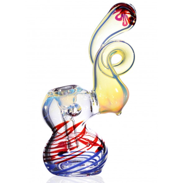 "6"" Twisted Neck Bubbler - Extra Heavy !!!"