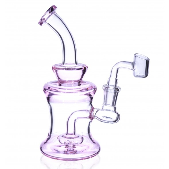 The Iced Pink - 7 inch Mini Water Pipe in Pink