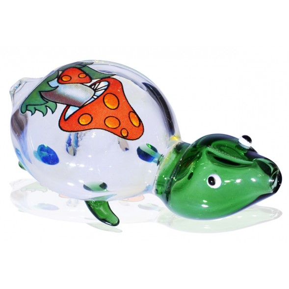 "4"" Turtle Pipe - Animal - Mushroom"