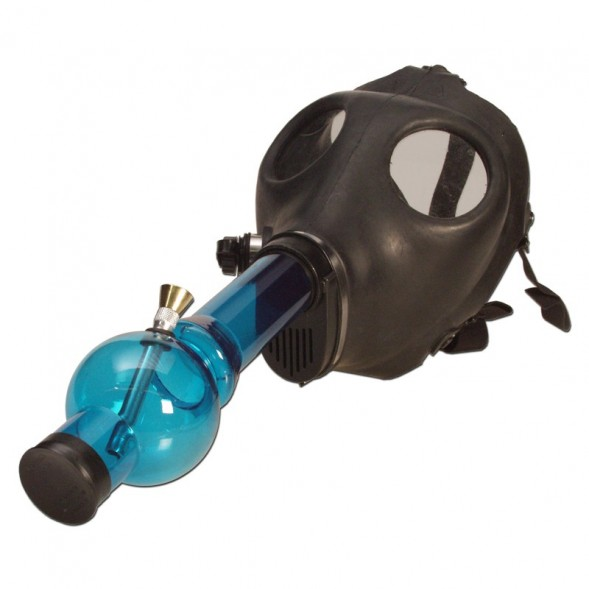 Gas Mask Pipe Bong - Includes Acrylic Water Pipe - Full Set