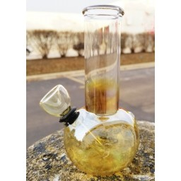 "5"" Mini Water Pipe - Golden Fumed"