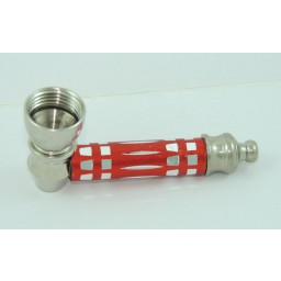 Metal pipe Red with Lid