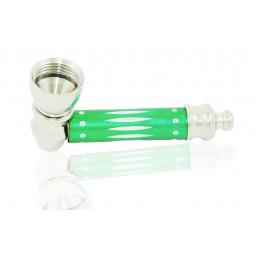 Metal pipe green with Lid