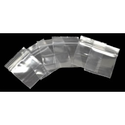 Pack of 100 Mini Ziplock Clear Baggies 1.25 inches x 1.25 Inches