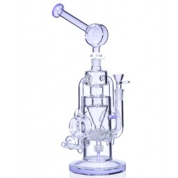 "Steam Engine Recycler - 13"" Stereo Matrix Perc with Cyclone Funnel - Purple"