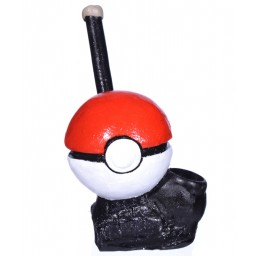 "6"" Character Wooden pipes - Pokeball"