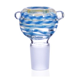The Cirrus Cloud - 19mm Male Bowl - Aqua Blue