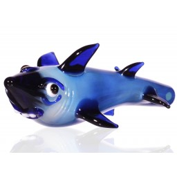 "Sharky Jackson - 5.5"" Blue Shark Hand Pipe"