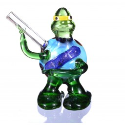 "4"" TMNT Turtle Animal Glass Hand Pipe Spoon Pipe"