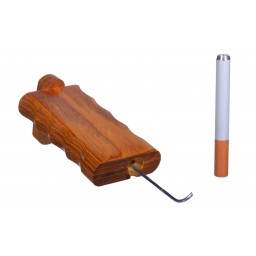 Large Wooden Dugout - Includes Poker and Metal Cig Pipe