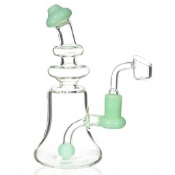 "The Clarity Pipe - 8"" High Quality Water Pipe with Ball Shaped Perc - Slime Green"