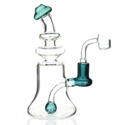 "The Clarity Pipe - 8"" High Quality Water Pipe with Ball Shaped Perc - Winter Green"