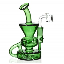 "The Mad Scientist - 6.5"" Recycler Water Pipe with 2 Inline Percs"