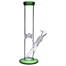 "12"" Water Pipe with Ice Catcher - Green"