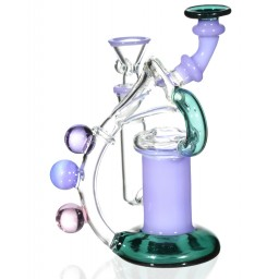 "The Wizard's Flute - 6"" Purple Recycler Bong"