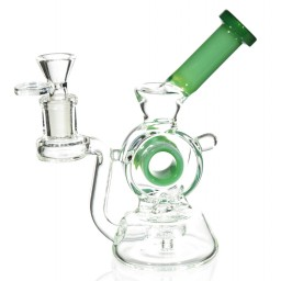 "The Ray Gun - 7"" Hollow Cylinder Dab Rig Recycler - Mint Green"