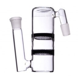 Double Honeycomb Ashcatcher - 14mm - Black