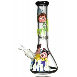 "Rick and Morty Break Bad - 12.5"" Clear Bong with Rick and Morty 3D Artwork"