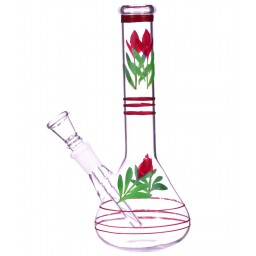 "8"" Flower Design Pipe - Clear"